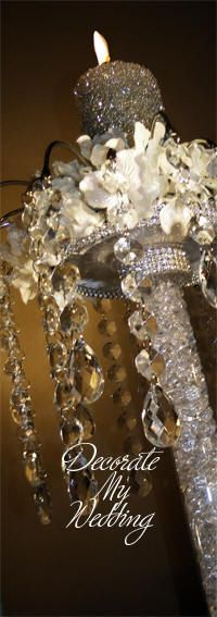 DECORATE MY WEDDING Crystal Unity Candle