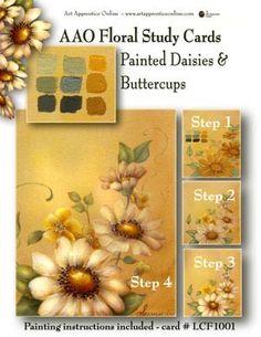 Laminated card - Daisies & Buttercups - Art Apprentice Online