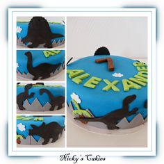 Dinosaurus taart #dinosaurus #dino #taart #cake
