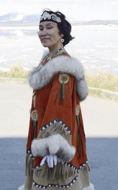 """An Inuit woman wearing traditional clothing. Obviously the """"Grace Kelly of Labrador"""""""