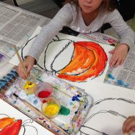 1st Grade Pumpkins Part 2 (Painting & Color Mixing made easy for Primaries) #artsed #artsedchat