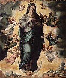Baltasar de el Águila - Nostra signora degli Angeli, olio su tavola, 158 x 134 cm, Museo di Belle Arti di Cordova.