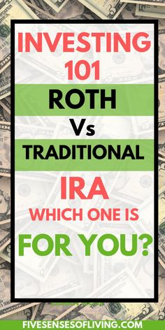 Are you familiar with a Roth Or Traditional IRA for investing your money? If you are getting started with saving for retirement, then you NEED to learn about IRA's. They're the savings vehicle that can help you get on track saving for retirement. Ira Retirement, Investing For Retirement, Retirement Planning, Retirement Savings, Retirement Cards, Savings Plan, Investing In Stocks, Investing Money, Saving Money