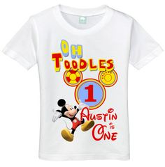 Boys 1 year old Mickey Mouse Oh Toodles 1st by TeenyTotTees, $14.99 One Year Birthday, Mickey Mouse Birthday, Birthday Fun, 2nd Birthday Parties, Birthday Shirts, 1st Birthdays, Birthday Ideas, Toodles Mickey Mouse, Mickey Mouse Theme Party