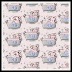 free piggy in the bath backnig paper pack pink