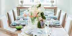 A Sophisticated Easter Table Inspired By The Colors Of Spring - TownandCountrymag.com