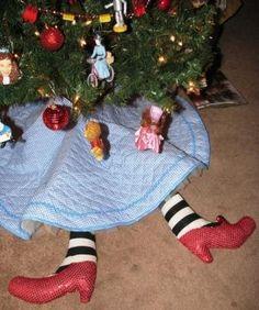 Texas Kirkwoods: Wizard of Oz Christmas Tree Skirt