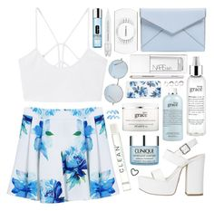"""""""Outfit 198"""" by holass ❤ liked on Polyvore featuring MANGO, Rebecca Minkoff, Clinique, philosophy, CLEAN, NARS Cosmetics, MAC Cosmetics, Sephora Collection, Sonix and Iosselliani"""