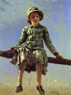 'dragonfly painters daughter portrait' by MotionAge Media Ilya Repin, Russian Painting, Russian Art, Art Database, Kandinsky, Art Google, Art World, Les Oeuvres, Art History
