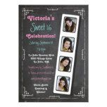 Chalkboard Photo Booth Party Invitations