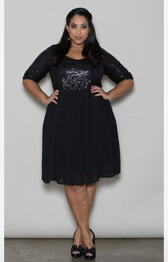 7d9437c12b9 Swak Designs Tracey Sequin Dress Plus Size  plussize  plussizedresses Nye  Outfits
