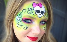 Halloween face painting by Lisa Joy Young - great explanation of shading and materials too ...