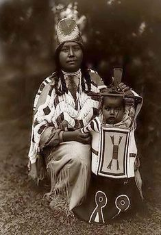 Cayuse Mother and Child