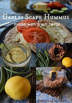 How to Make Hummus: Garlic Scape Hummus – Joybilee Farm