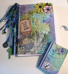 Altered composition books. My friend, @JayLene Seeley has been doing this kind of thing for years.