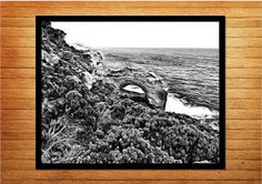 Black and white photography, printable wall art, rocky arch - Made by Gia $10.00  #madebygia #made_by_gia #nauticalphotography #oceandecor #nauticaldecor #blackandwhitephotography #blackandwhitephotos #printable