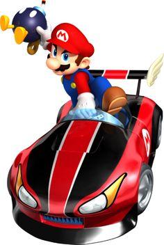 Mario Kart Wii Mario Wild Wing with Bob Omb