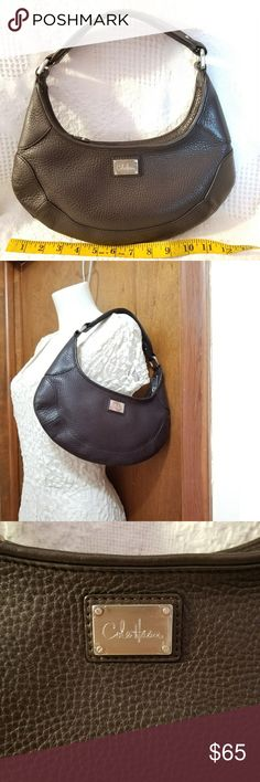 Cole Haan hobo bag NWOT brown pebbled leather Small Cole Haan, new unused leather purse.  Rounded style hobo purse, brown pebbled leather.  Nice quality leather, substantial hardware.  Neat and clean, simply chic! Cole Haan Bags Hobos