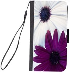 Rikki Knight Sharp Color Purple and White Daisies Design Galaxy S4 PU Leather Wallet Type Flip Case with Magnetic Flap and Wristlet for Samsung Galaxy S4 i9500. Includes attached ribbon Wristlet Strap. Black wallet case made of quality PU Leather material and Printed Front on Fabric Surface. Protect your mobile phone from scratch, dirt, impact and shock. Provides easy access to all the exterior features of your mobile phone. Inside of the case features 1 side slot where you can store...