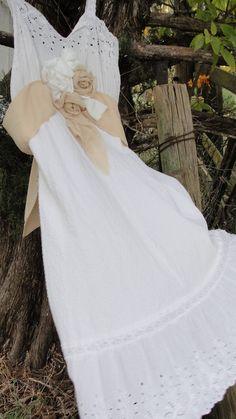 Gypsy boho hippie wedding dress vintage shabby by SummersBreeze