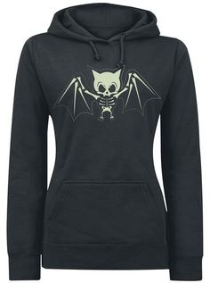 Good for yard work days, pretty much the only time I would ever wear a sweatshirt or hoodie of any kind. Love the bat skeleton!