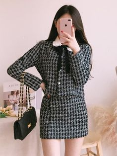 Cute Office Outfits, Preppy Outfits, Korean Outfits, Preppy Style, Classy Outfits, Cute Outfits, Vogue Fashion, Girl Fashion, Fashion Outfits