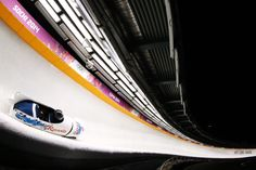 Pilot Alexander Kasjanov and Maxim Belugin of Russia team 2 make a run during the Men's Two-Man Bobsleigh (c) Getty Images Bobsleigh, Team 2, The Man, Pilot, Russia, Sports, Hs Sports, Pilots, Sport