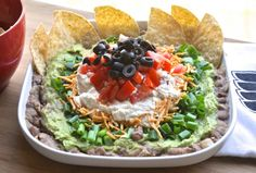 Vegan Seven Layer Dip with Cashew Sour Cream? So very into this.