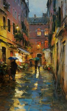 """Rainy Venice"" by Dmitry Danish"
