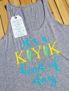 Its a KAYAK kind of day Girls Boutique Tank Top by 28716Chick