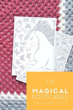 "Send your beloved ones a special card this time! This set of magical coloring postcards will make you ""ohhh"" and ""ahhh"", but wait until you finish coloring! Your friends are going to love them, especially in their favorite colors :) What a fun way to let know, they're important!"