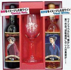 Phoenix Wright and Miles Edgeworth Wine