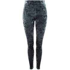 Topshop Velvet Leggings (34 LYD) ❤ liked on Polyvore featuring pants, leggings, slate, high-rise leggings, stretch velvet leggings, stretchy pants, high-waisted leggings and high waisted pants