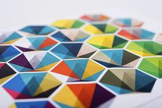 #Origami colors geometry
