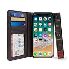 Twelve South BookBook for iPhone X | 3-in-1 leather wallet case, display stand and removable shell (brown): Amazon.ca: Cell Phones & Accessories