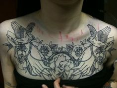 lovely chest piece by claudia de sabe http://claudiadesabe.blogspot.com/