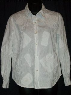 $16.99 + Free Shipping. Chico's Design White Cotton Embroidered Long Sleeve Top 0 S XS Chicos