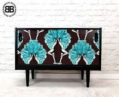 Stunning Professionally Upcycled MidCentury Sideboard TV Unit Showgirls Artwork  | eBay