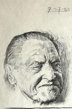Graham Sutherland - Portrait of Somerset Maugham III