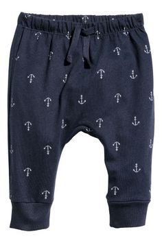 Jersey trousers - Dark blue/Anchors - Kids | H&M GB 1