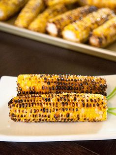 Taiwanese Grilled Corn - just like you find at Taiwanese night markets with a garlicky glaze that's sweet, spicy, and savory all at the same time