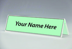 Double Sided Acrylic Name Plate Holder. Acrylic Table Tent.  sc 1 st  Pinterest & Black name plate holder slant back | Name Plate Holders | Pinterest ...