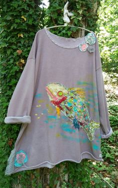Funky Fish Artist Sweatshirt  Made To Order