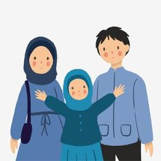 Family Clipart, Family Vector, Muslim Family, Muslim Couples, Business Cartoons, Islamic Cartoon, Family Drawing, Kids Background, Anime Muslim