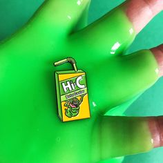 """Hi-C Ecto Cooler Pin from Yesterdays1.25"""" Soft Enamel Black Nickel Plated with rubber clutch"""