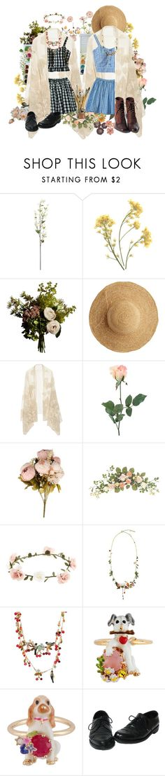 """9"" by potesauu ❤ liked on Polyvore featuring La Vie en Rose, Abigail Ahern, Flora Bella, Valentino, INC International Concepts, Accessorize and Les Néréides"