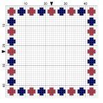 Beads 3 Cross Stitch Border - by StitchMeKnot.com