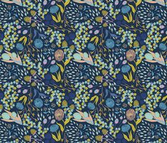 Seeds Gone Wild - Spring fabric by abbyhersey on Spoonflower - custom fabric