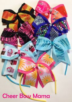 Cheer Bow Headbands by Cheer Bow Mama - great for short hair, young cheerleaders & sisters