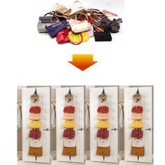 2 Over the Door Hanging Purse Clothes Hat Storage Closet Organizer Hanger Straps #UnbrandedGeneric